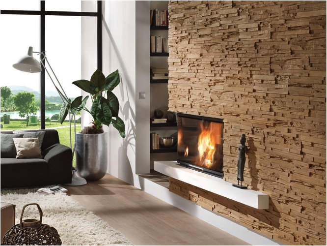 Revestimientos innovadores con materiales modernos revear for Piedra interior