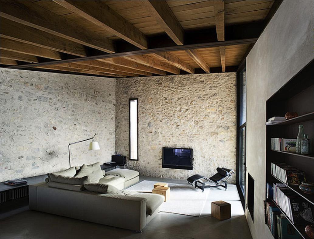 C mo remodelar tus ambientes uniendo materiales - Ladrillo visto interior ...